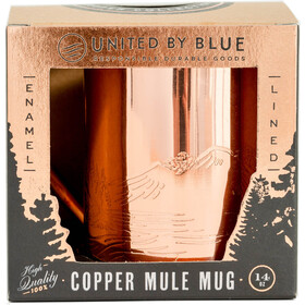 United By Blue Waterfall Copper/Enamel Lined Mug Light Blue